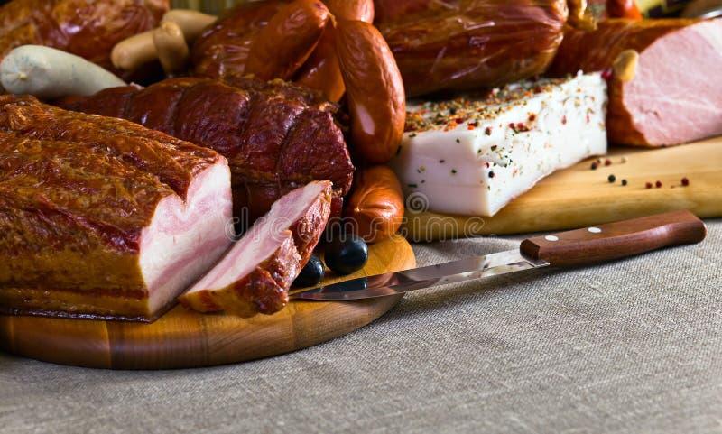 Uwędzony mięso fotografia stock