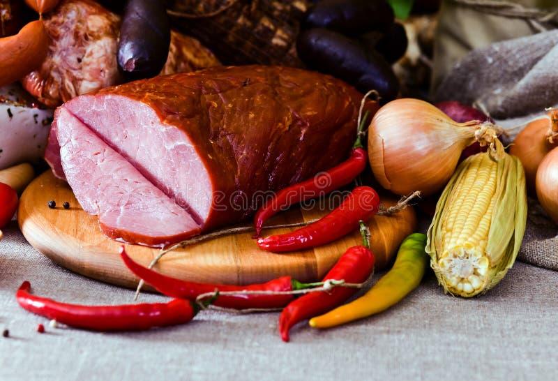 Uwędzony mięso fotografia royalty free