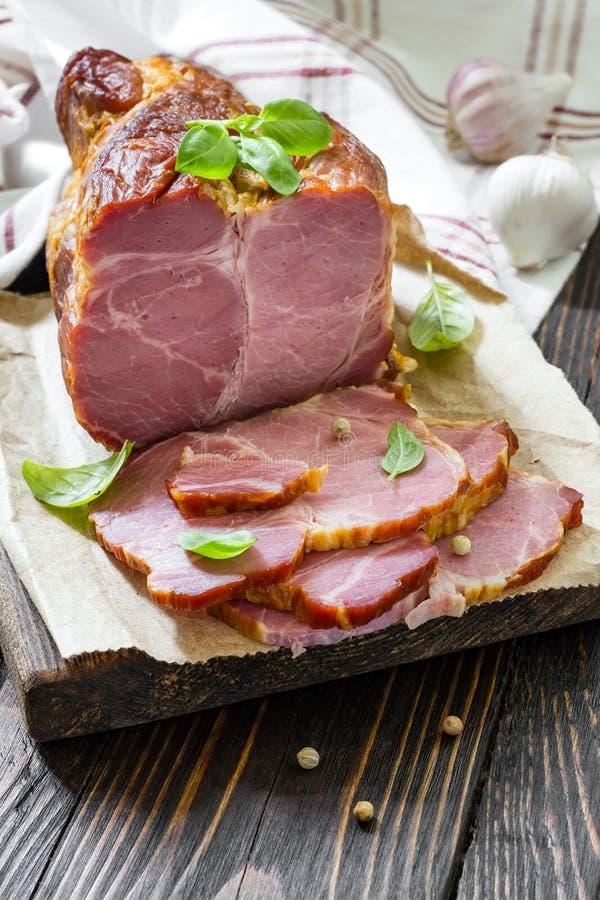 Uwędzony mięso obraz stock
