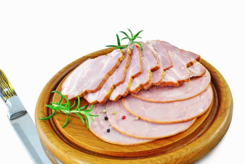 Uwędzony mięso i baleron zdjęcia royalty free
