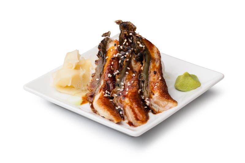 Uwędzony Węgorzowy sashimi obrazy royalty free