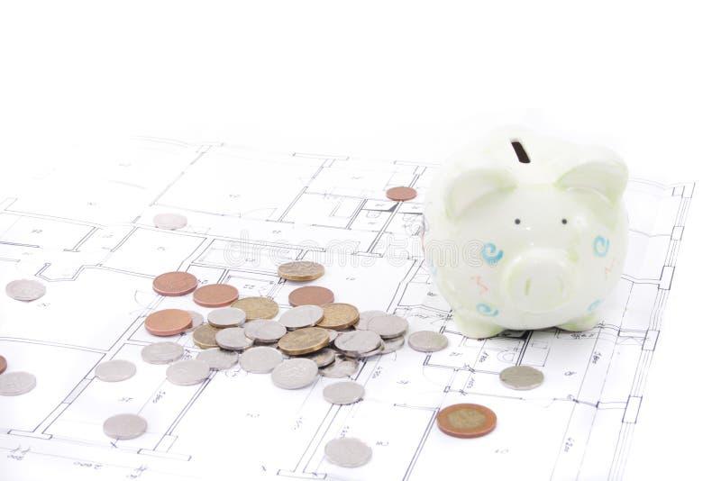 Uw besparing en huisplan royalty-vrije stock afbeelding