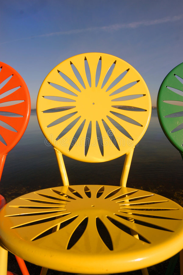 Free Uw Chairs Lined Up Closeup Stock Photography - 353022