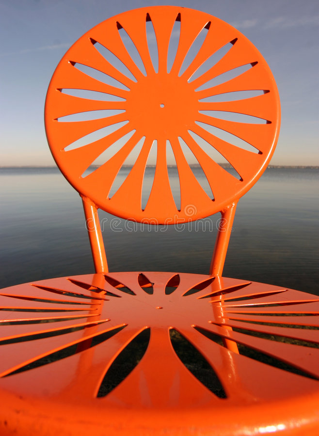 Uw chairs orange royalty free stock photos