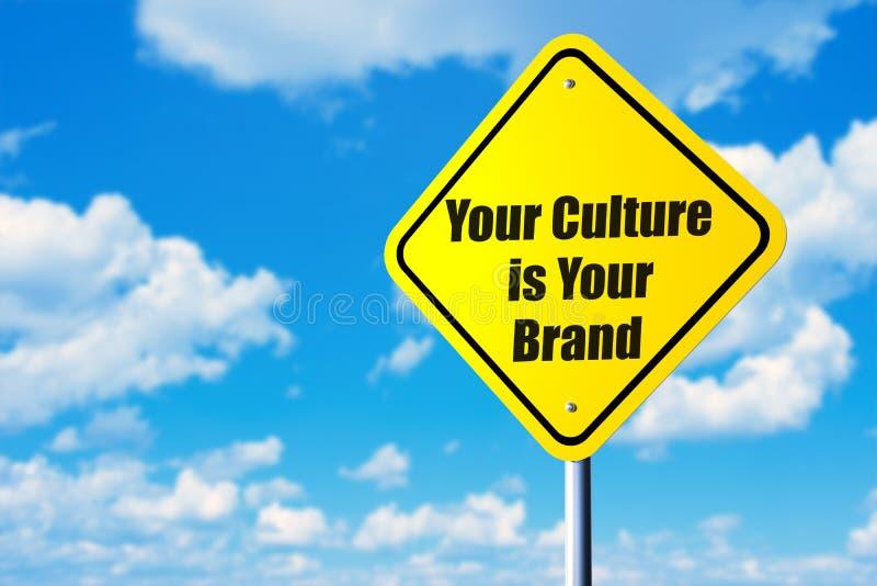 Uw cultuur is uw merk royalty-vrije stock afbeelding