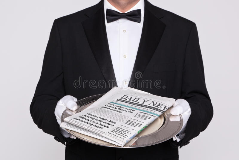Uw Dagelijkse krant royalty-vrije stock afbeelding