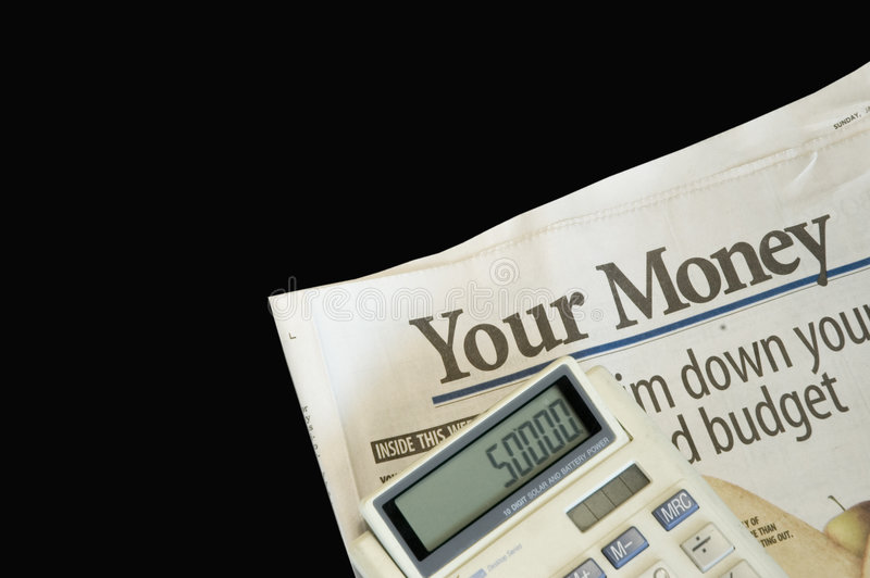 Uw Geld royalty-vrije stock foto