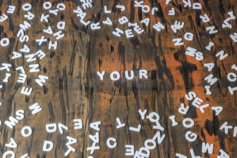 Uw gespeld in witte brieven stock afbeeldingen
