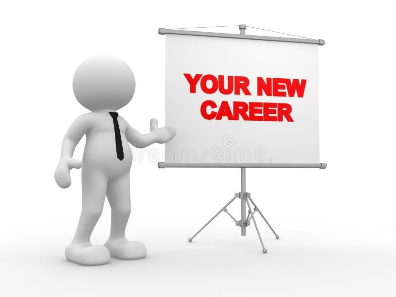 Uw nieuwe carrière stock illustratie