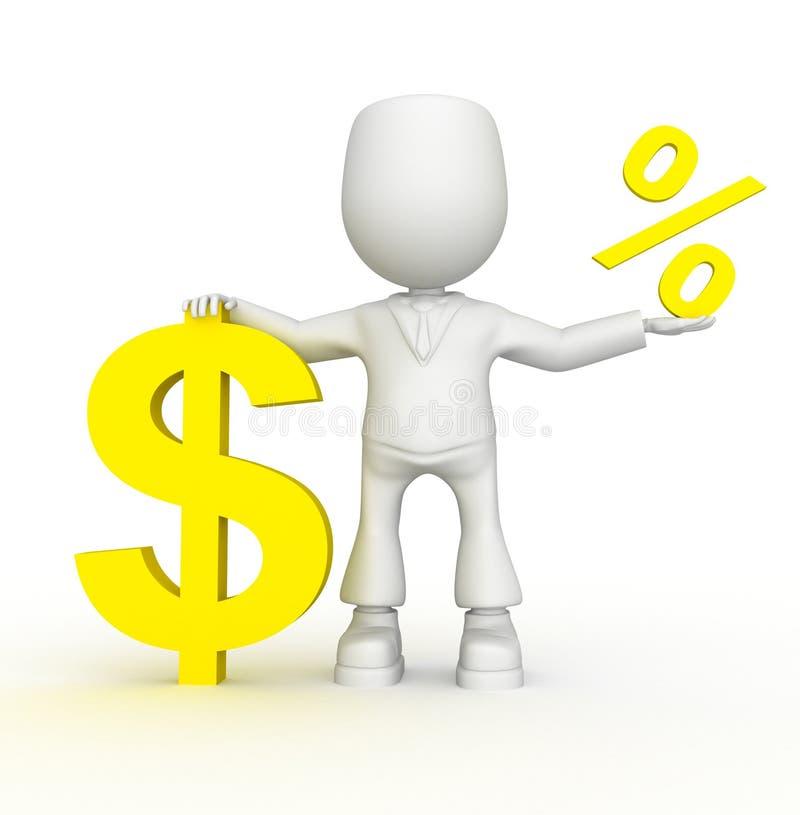 Uw percenten stock illustratie