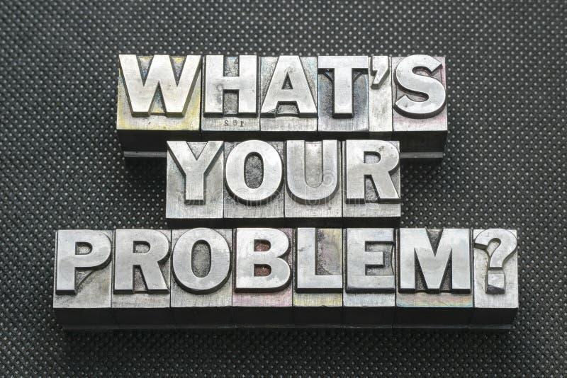 Uw probleem vraagt BM stock fotografie