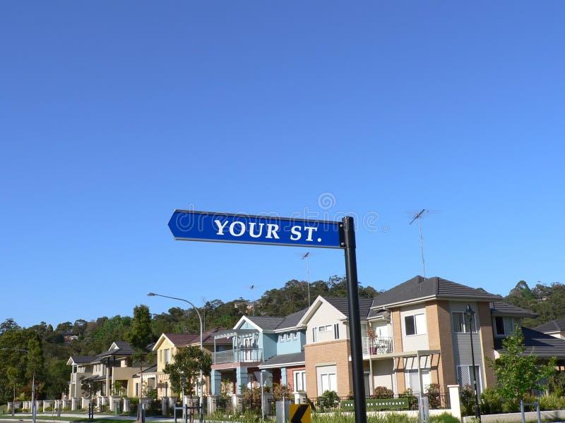 Uw Teken van de Straat stock foto's