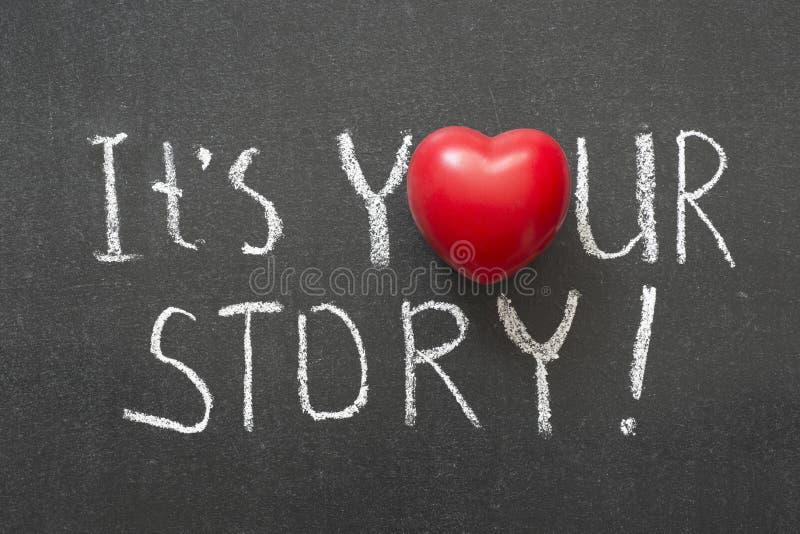 Uw verhaal stock fotografie