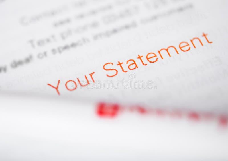 Uw verklaringsdocument voor belasting en zaken stock afbeeldingen
