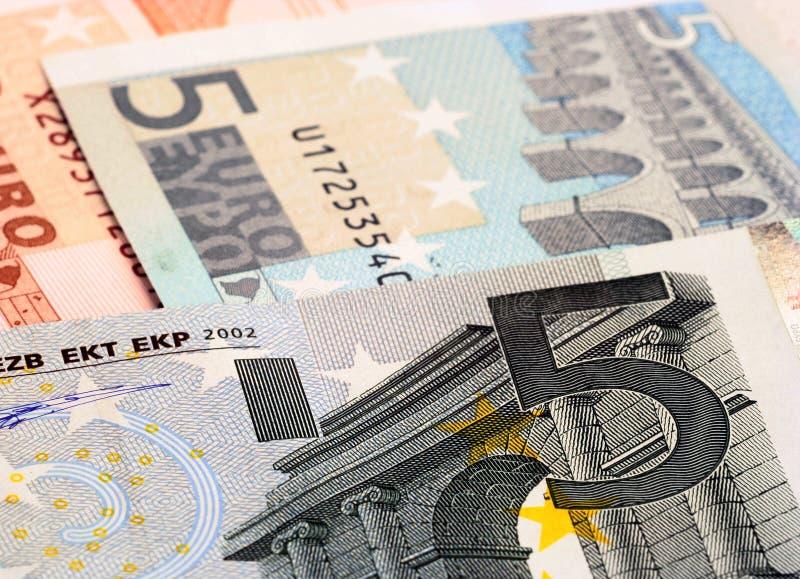 uwaga 5 euro zdjęcia stock