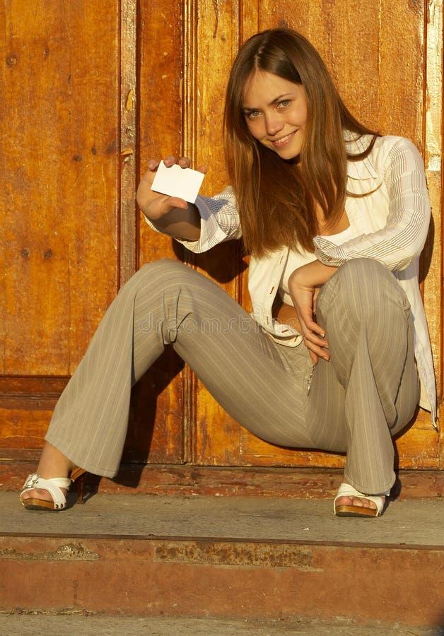 uwaga dziewczyny karty fotografia royalty free