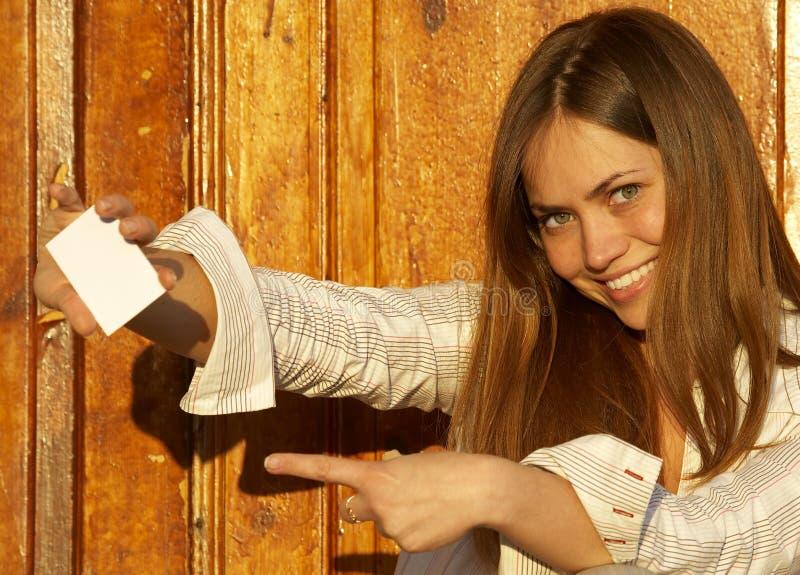 uwaga dziewczyny karty zdjęcie stock