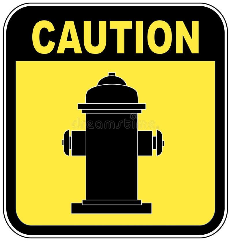 uwaga hydrant ilustracji