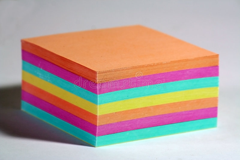uwaga koloru papieru obrazy stock