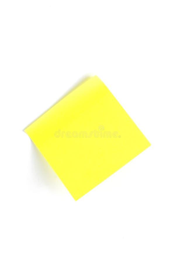 uwaga mały lepkie żółty zdjęcie stock