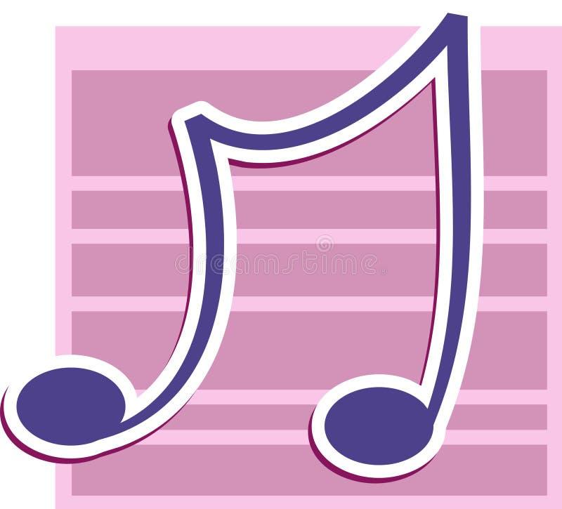 uwaga muzyczna ilustracja wektor