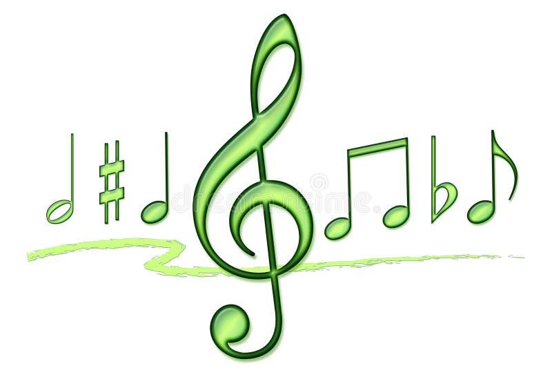 uwaga muzyki kolaż royalty ilustracja