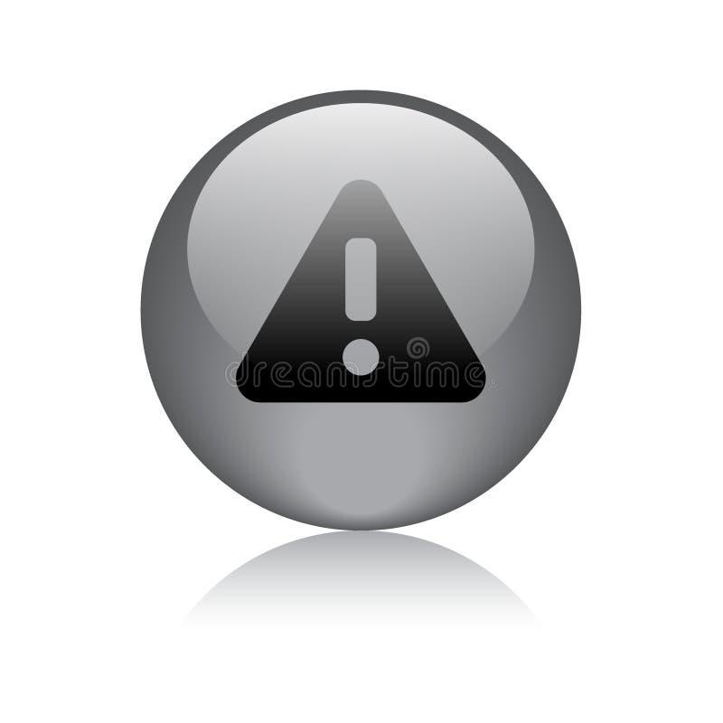 Uwaga, ostrzegać ikony sieci guzika/ ilustracja wektor