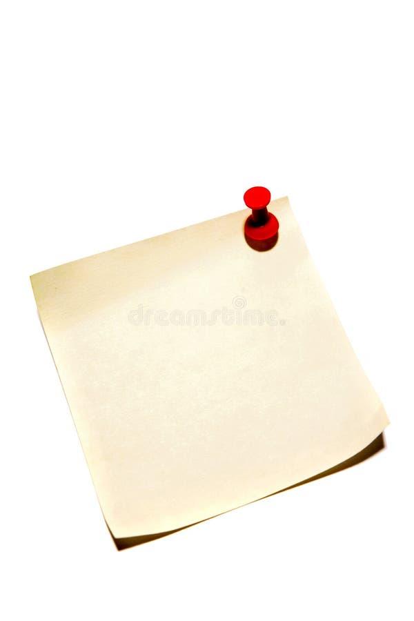 uwaga papier pusty obrazy stock
