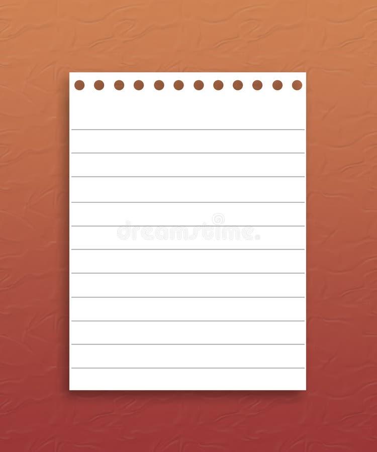 uwaga papieru ilustracja wektor