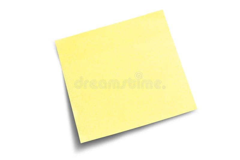 uwaga poczty cień zdjęcia stock