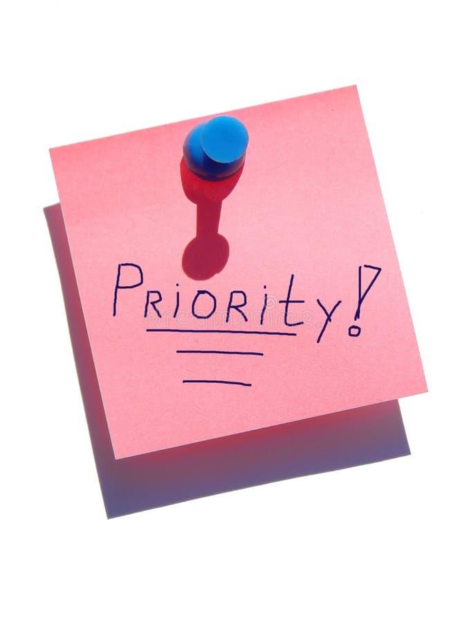uwaga priorytetowych obraz stock
