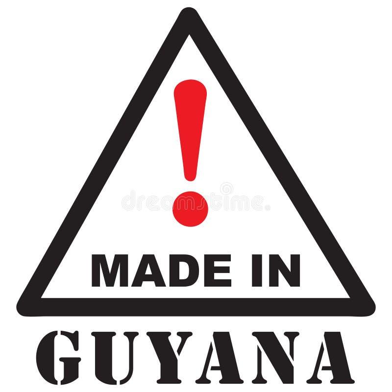 Uwaga Robić w Guyana ilustracji