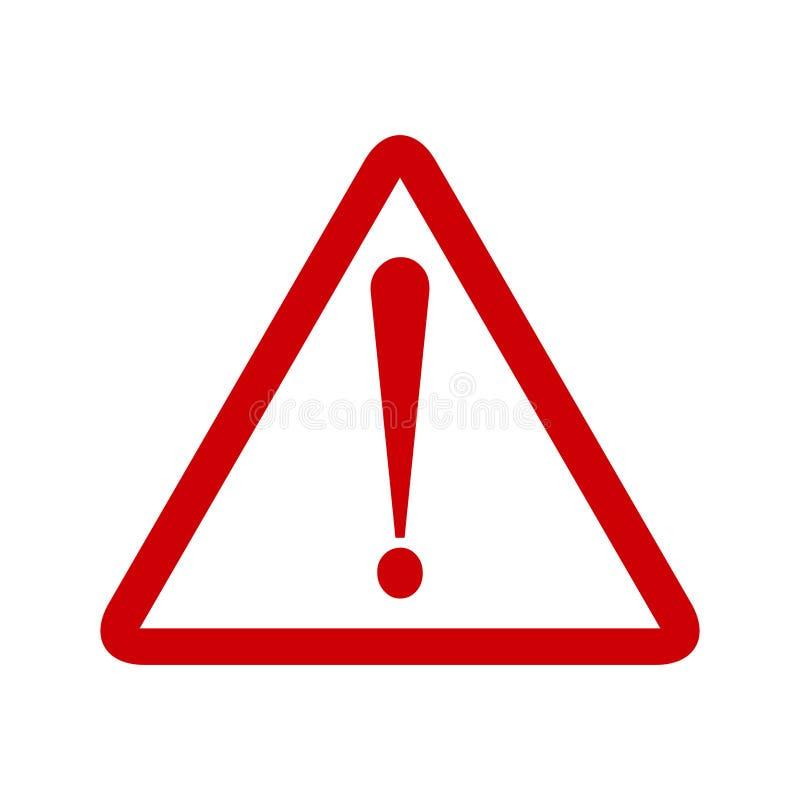 Uwaga symbolu szyldowy trójbok Ostrożności ikony okrzyk Raźny drogowy znak royalty ilustracja
