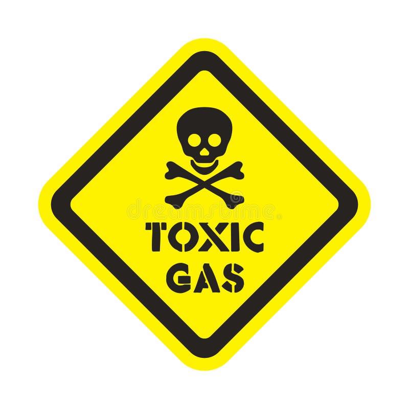 Uwaga toksycznego gazu majcher ilustracji