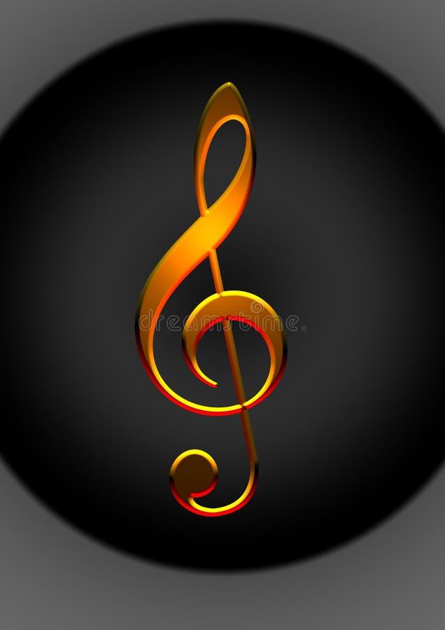 uwaga złota muzyki ilustracja wektor