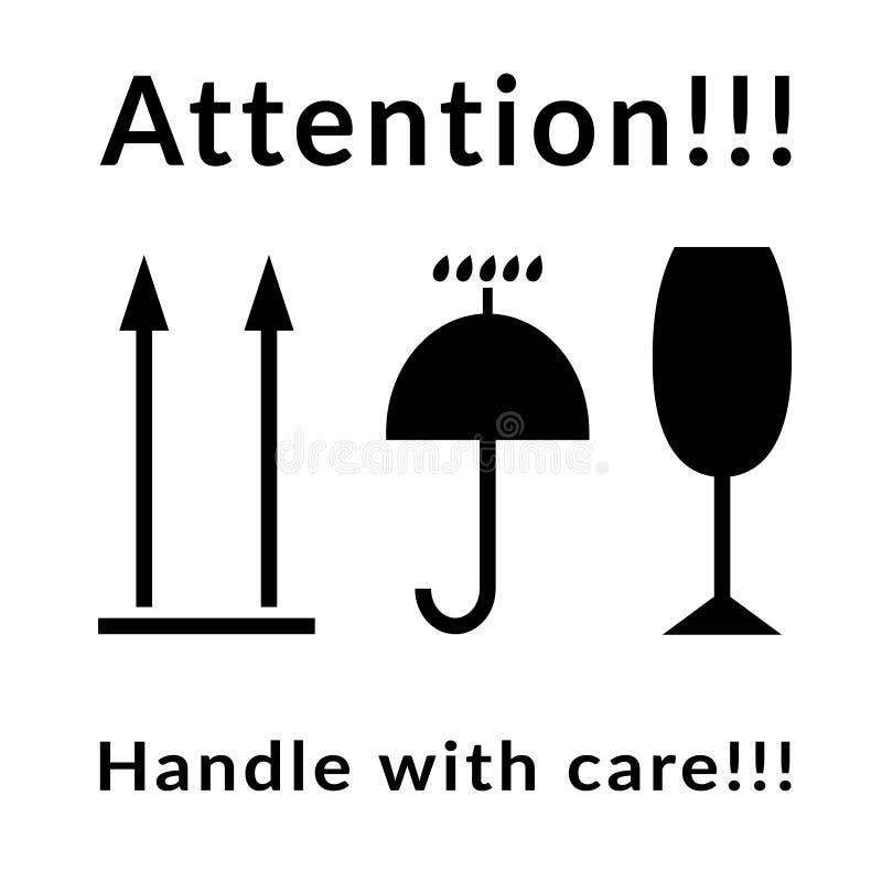 Uwaga znaki ustawiający ilustracja wektor