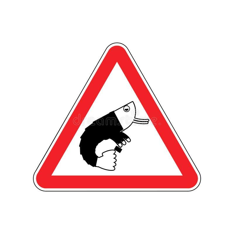Uwagi biura hydroplankton Niebezpieczeństwa czerwony drogowy znak urzędnik Cauti royalty ilustracja