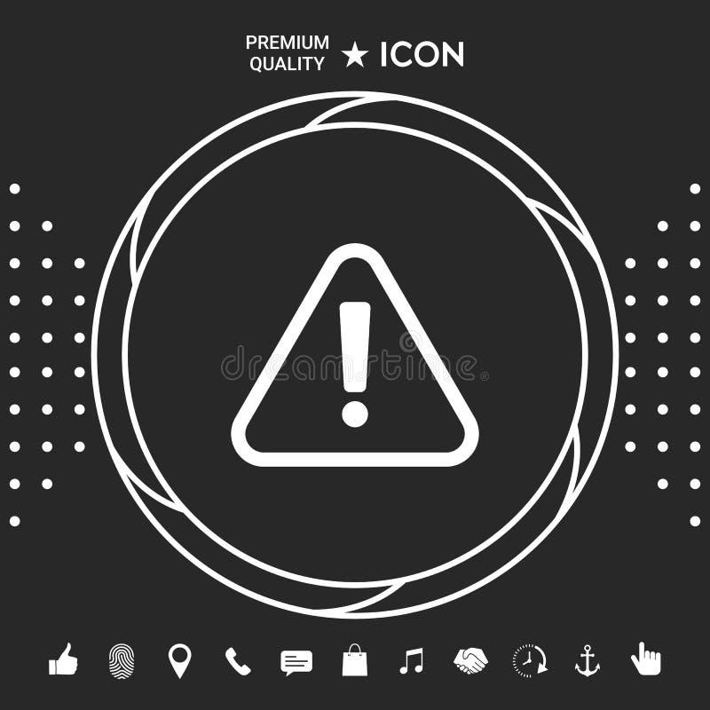 Uwagi ikony symbol ilustracji