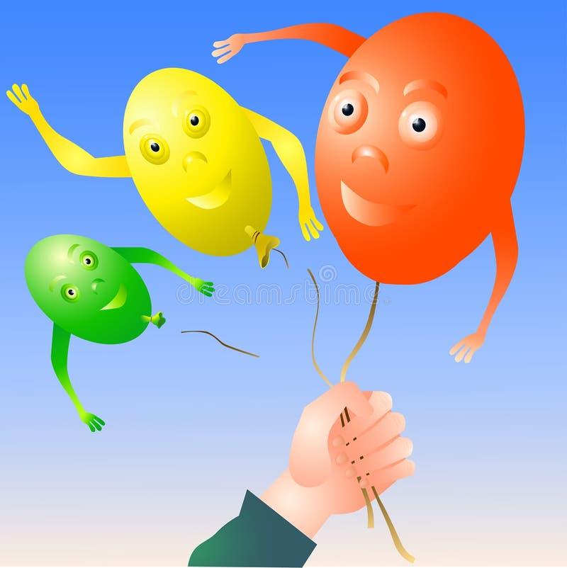 Uwalnia balony obraz royalty free