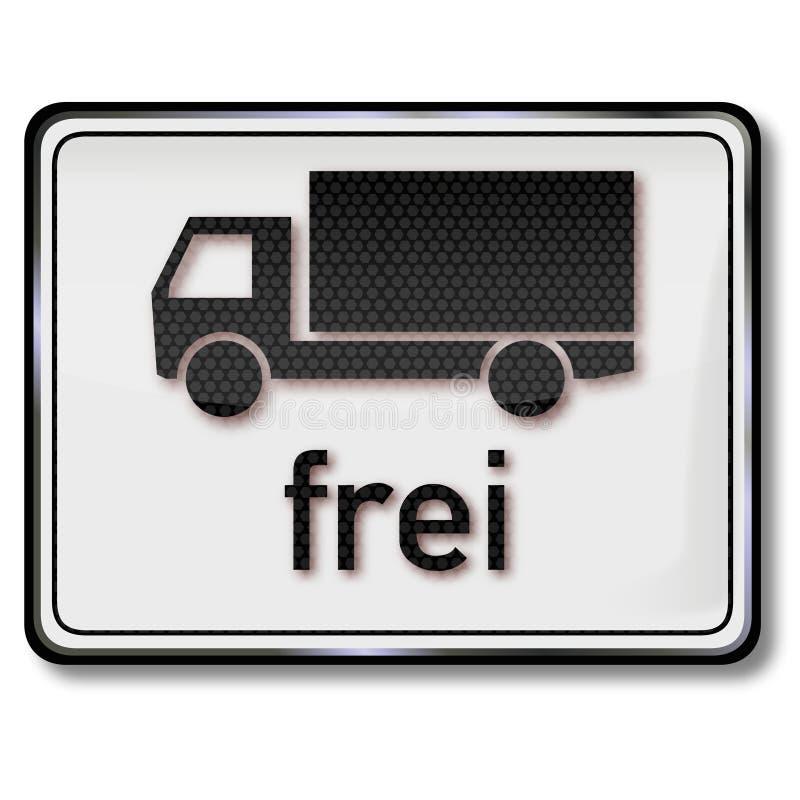 Uwalnia znaka dla ciężarówek ilustracji