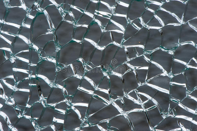 Uwarstwiający zbawczy szkło łamający obraz royalty free