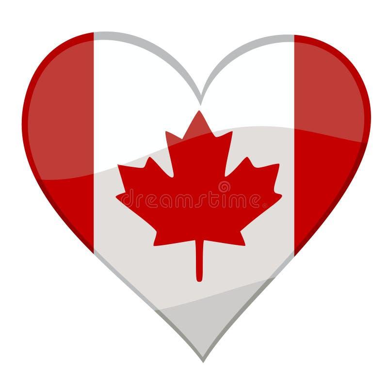uwielbiam kanady ilustracja wektor
