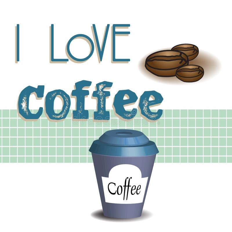 uwielbiam kawę ilustracja wektor