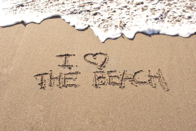 uwielbiam plażę zdjęcia stock