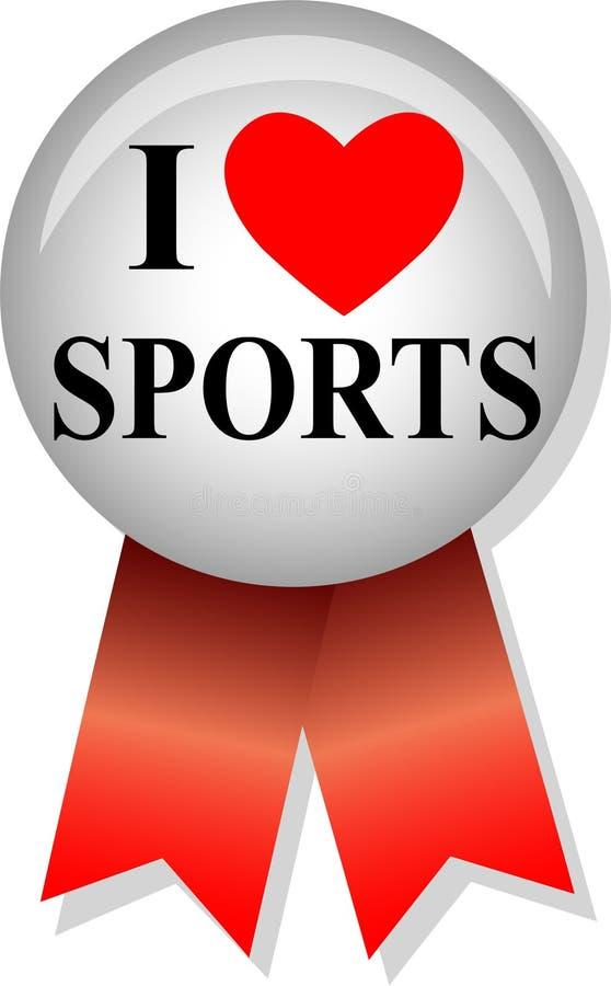 uwielbiam sport eps przycisk ilustracja wektor