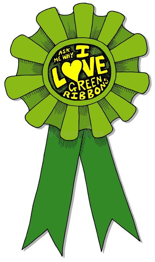 uwielbiam zielony wstążki ilustracji