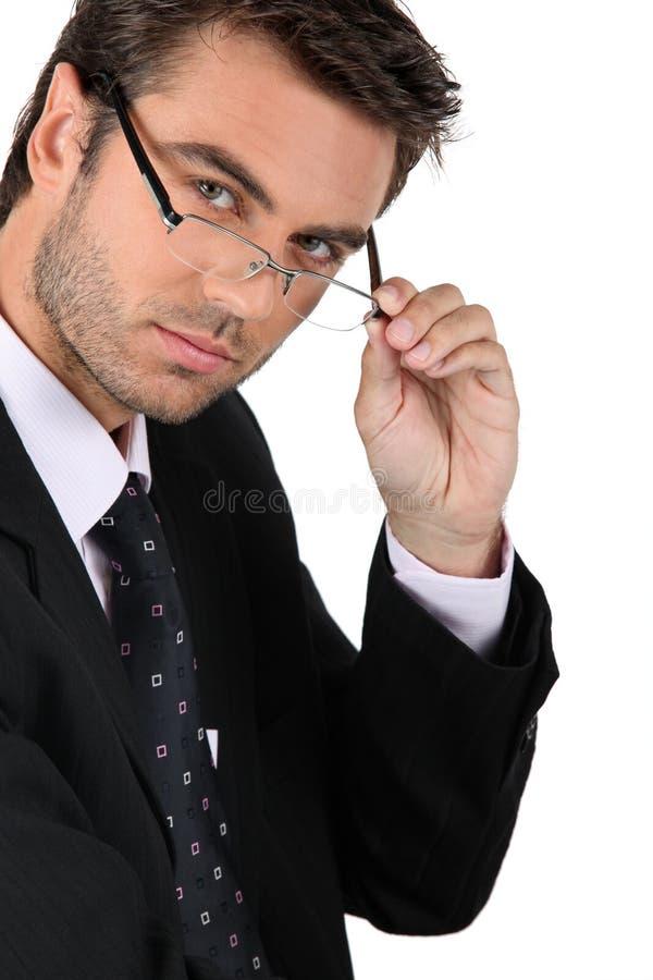 Uwodzicielski biznesmen zdjęcie stock