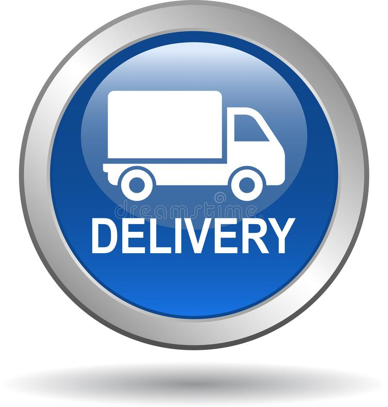 uwolnij sieci dostaw przycisk ilustracja wektor