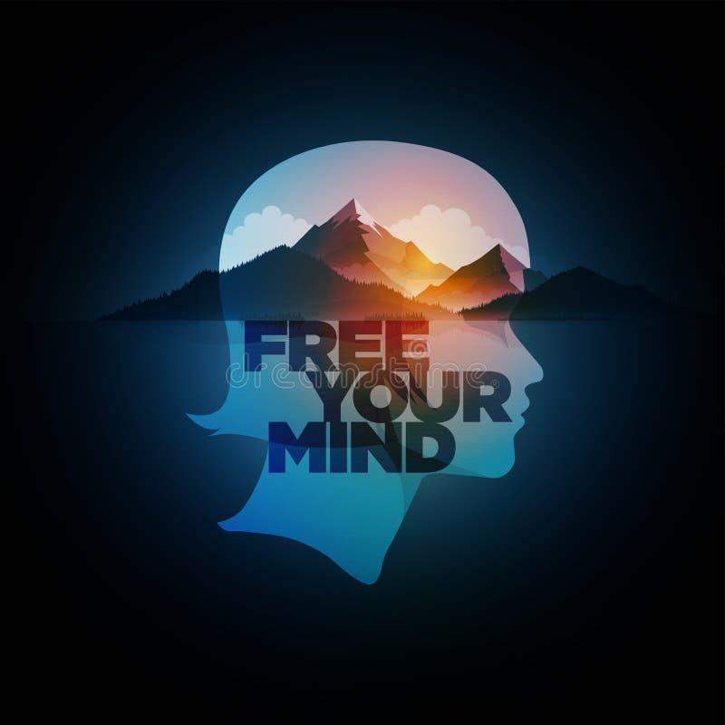 uwolnij umysł twojego ilustracji