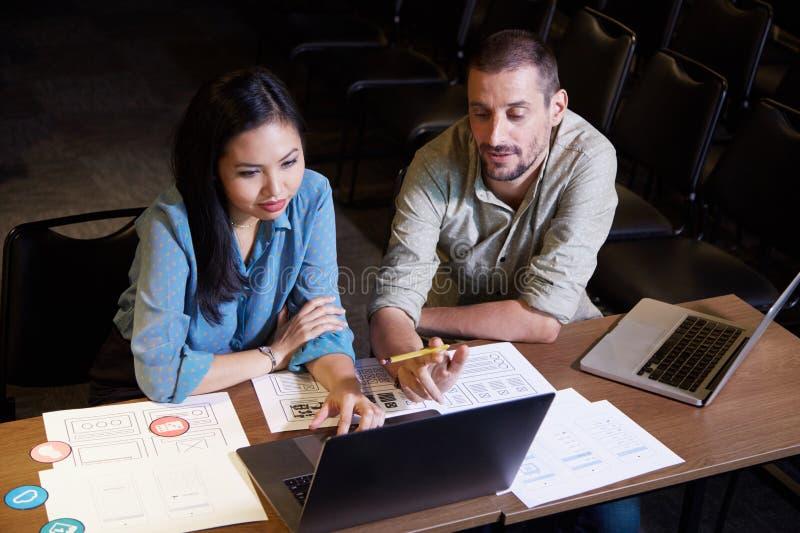 UX和UI设计师会议  免版税库存图片